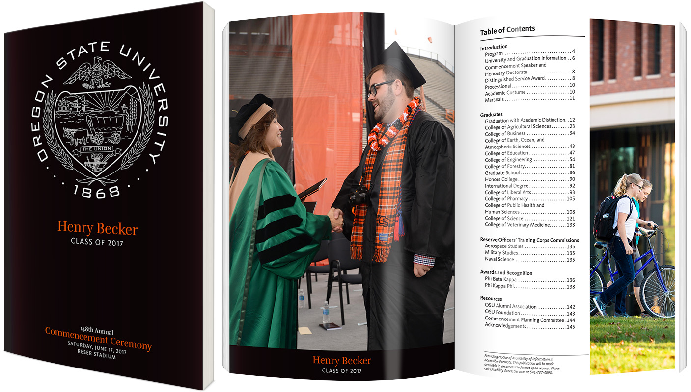 example of commencement program book