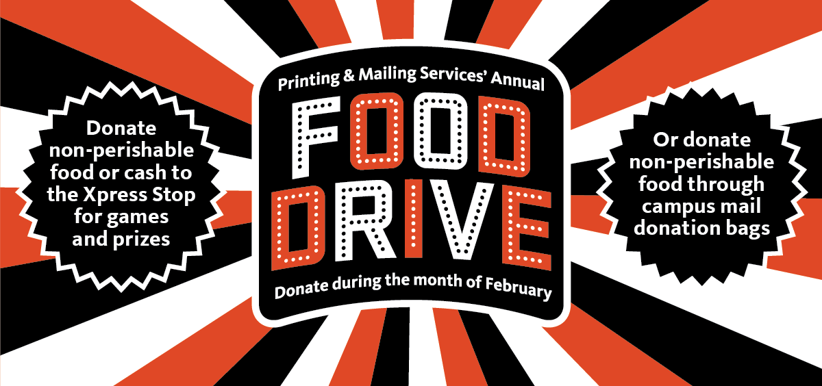 food drive banner