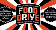 food drive banner